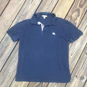 Burberry Brit Boys Navy Blue Polo Shirt